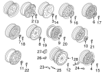 Trunk Mat Nut - BMW (36-13-1-181-948)