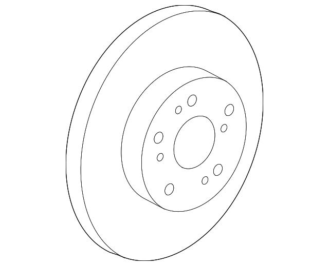 2014 2016 Honda Cr V 5 Door Disk Front Brake 45251 T0h A01