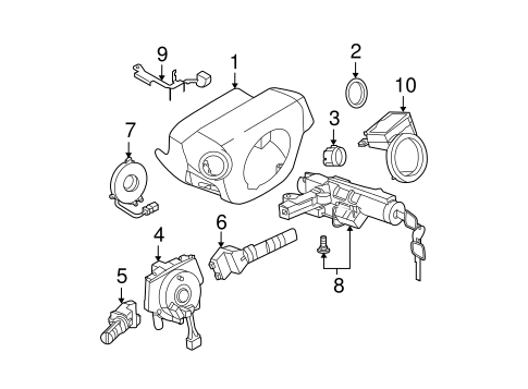 Anti-Theft Components for 2004 Nissan Murano #0