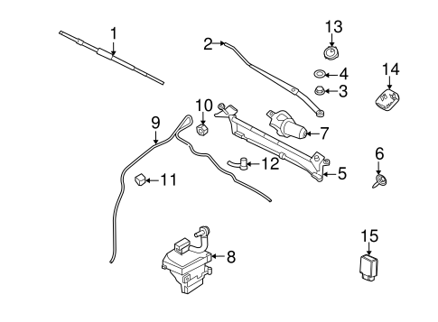 Body/Wiper & Washer Components for 2011 Ford Fusion #1