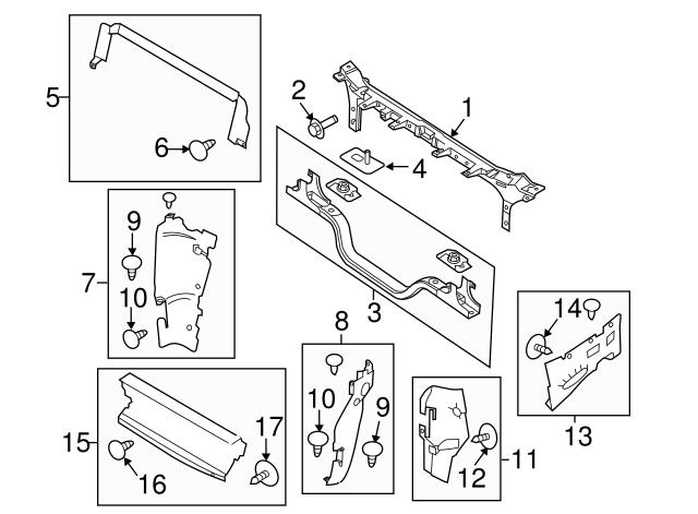 Oem Ford Radiator Support Upper Tie Bar Bc3z16138b