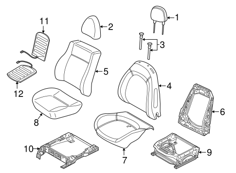 Front Seat Components For 2018 Ram Promaster City