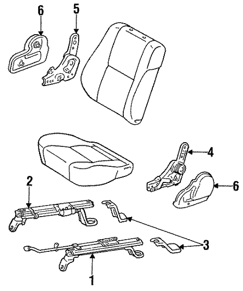 Genuine Oem Manual Seat Tracks Components Parts For 1993 Toyota