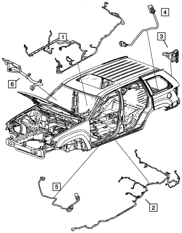 Mopar Wiring Under Body 56050354ag