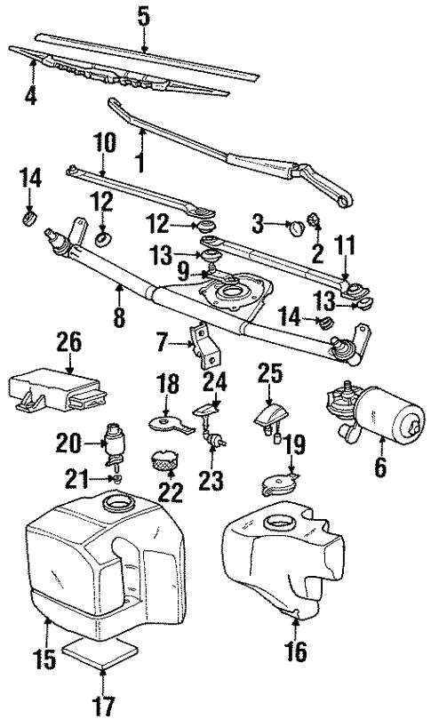 Wiper Components For 1998 Bmw 318ti