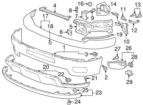 Bumper & Components - Front Parts for 2011 Chevrolet ...
