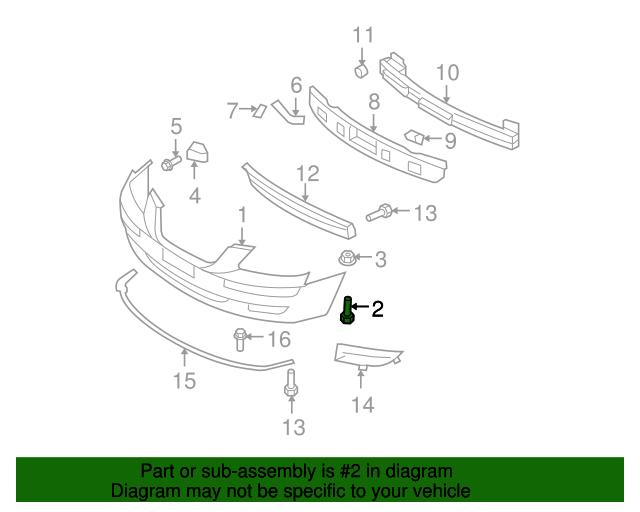bumper cover screw hyundai 86579 3k000 xportauto 2005 Hyundai Accent Parts Diagram bumper cover screw