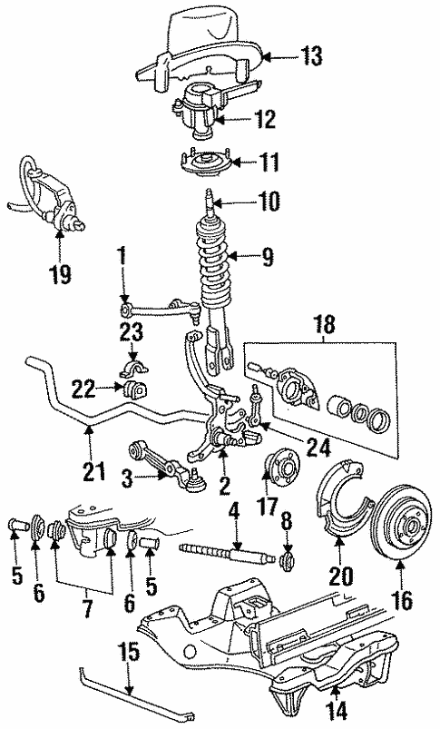 Stabilizer Bar Components For 1996 Mercury Cougar