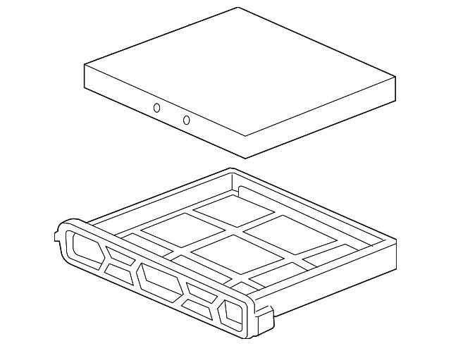 2003 2009 Honda Filter Assembly Air Conditioner 80290 Sda A01