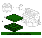 Filter Assembly, Air Conditioner - Honda (80290-SDA-A01)
