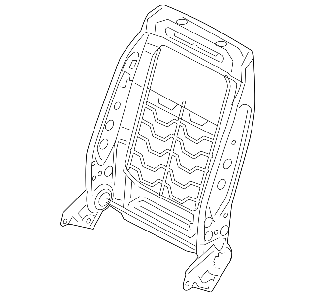 frame-front seat back