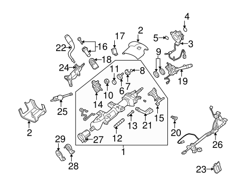 Steering Column for 2007 Chevrolet Tahoe #0