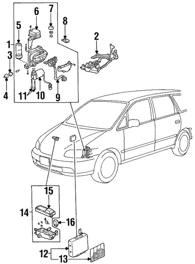 1995 1997 Honda Odyssey 5 Door Abs Unit 39790 Sx0 A01