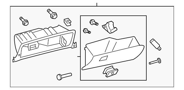 Toyota Genuine 55501-07010-B2 Glove Box Door Assembly