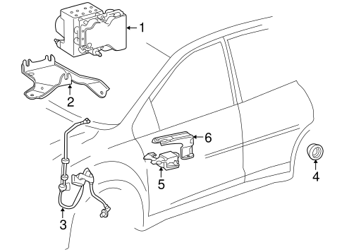 ELECTRICAL/ABS COMPONENTS for 2004 Toyota Corolla #1