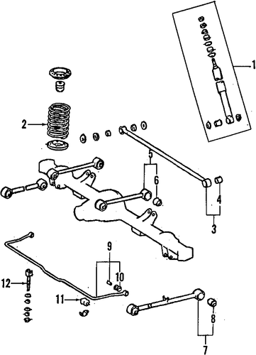 REAR SUSPENSION/REAR SUSPENSION for 1996 Toyota Land Cruiser #2