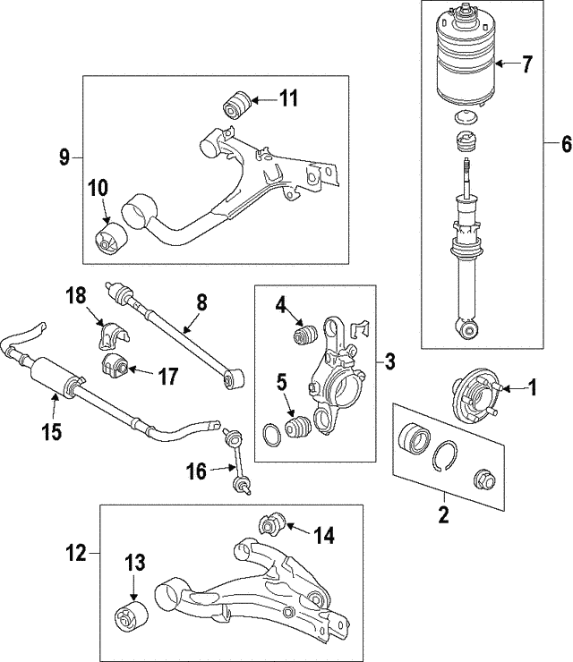 Shock Assembly - Land-Rover (LR032652)