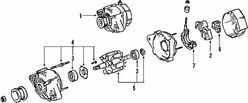 electrical/alternator for 2003 toyota matrix #1