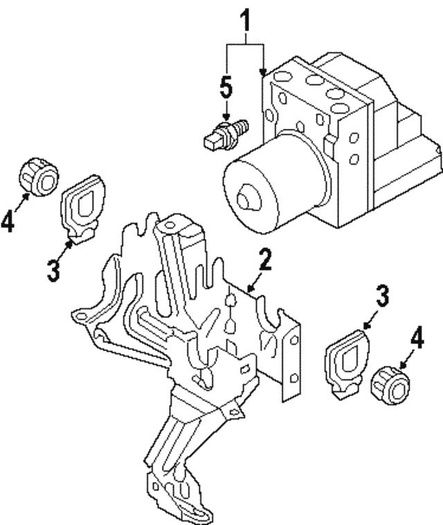 2002 2015 Audi Bracket Grommet 8e0 614 177 B