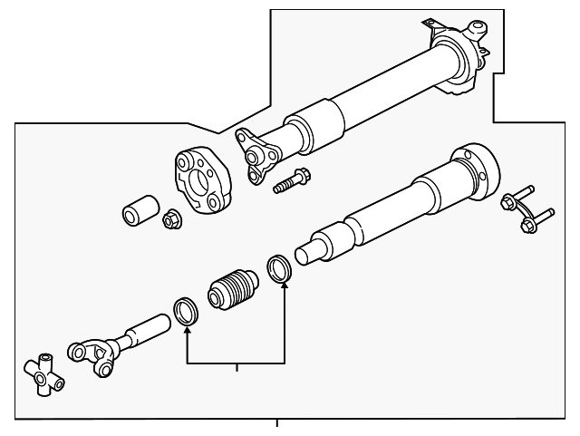 2015 2017 Ford Mustang Drive Shaft Assembly Fr3z 4r602 T