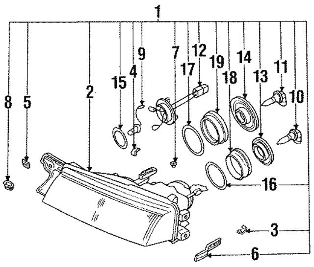 1992 1997 Subaru Svx Composite Assembly 84001pa030