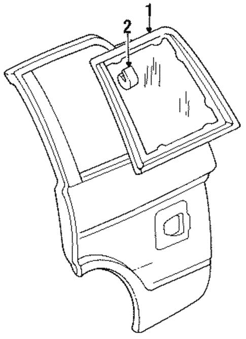 Glass Hardware For 1994 Chevrolet S10 Blazer