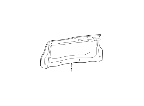 Body/Interior Trim - Trunk for 2000 Ford Taurus #1