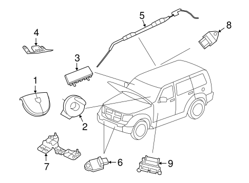 Air Bag Components For 2008 Jeep Liberty