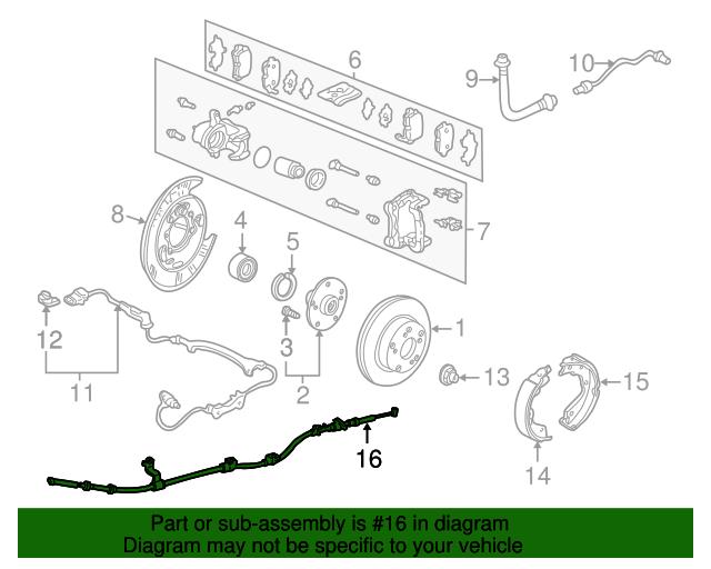 Genuine Honda 47101-SJC-A02 Foot Parking Brake Pedal Set