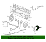 Shoe B, L Parking Brake - Honda (43155-S9V-A11)