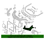 Headlamp Bracket - Mercedes-Benz (166-620-05-91)