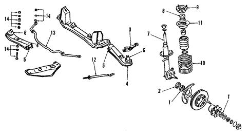 Suspension Components for 1990 Nissan 240SX | Courtesy Parts