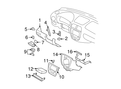Instrument Panel For 2003 Subaru Impreza