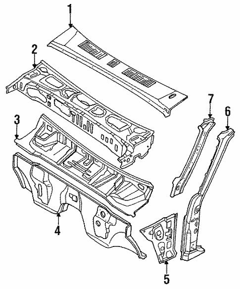Genuine Oem Cowl Parts For 1989 Mazda B2200 Base
