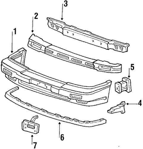 Absorber, Front Bumper