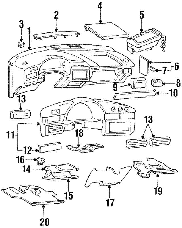 1995 2001 Chevrolet Column Filler 10289340