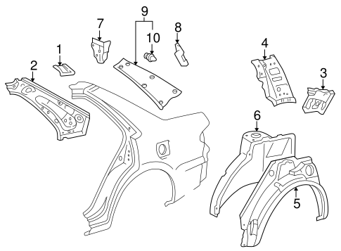 BODY/INNER STRUCTURE for 2001 Toyota Corolla #1