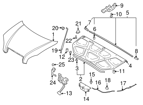 Hood Components For 2009 Hyundai Tucson