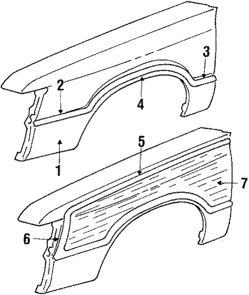Fender & Components for 1985 Mercury Marquis #0
