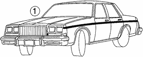 Body/Stripe Tape for 1988 Buick LeSabre #1
