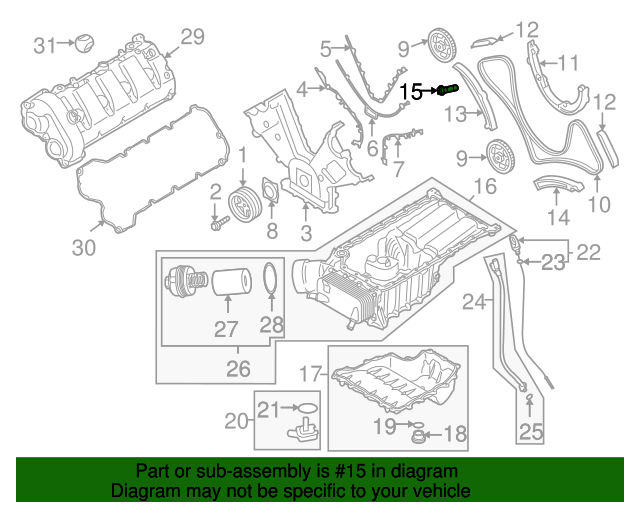 engine timing chain tensioner - porsche (948-105-180-10)   sunset porsche  parts  sunset porsche parts
