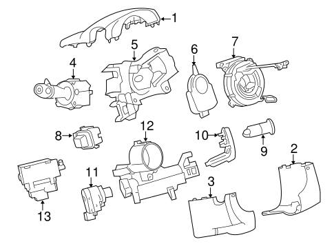 Oem 2011 Gmc Acadia Ignition Lock Parts