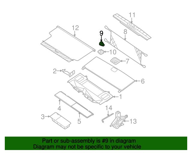 Tan Desert//Cafe Latte 84937-ZS31A Genuine Cargo Net Hook