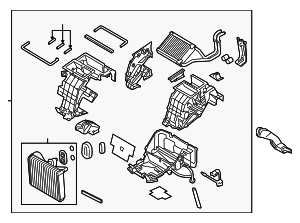 AC & Heater Assembly - Hyundai (97205-B1200)