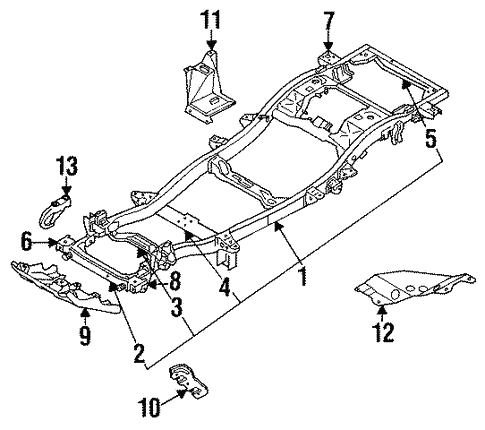 Frame & Components for 1995 Isuzu Trooper #0