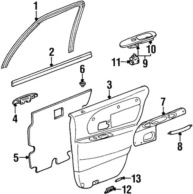 Ford Mustang Door Interior Trim Panel Grommet