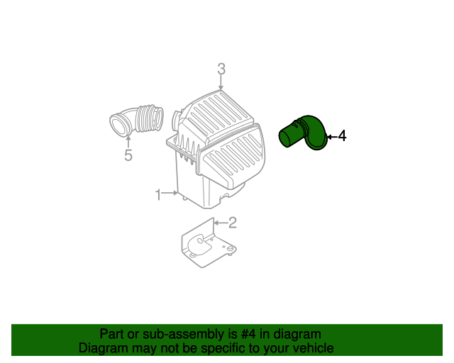 Air Inlet Duct Mopar 4891330ad Mopar Parts