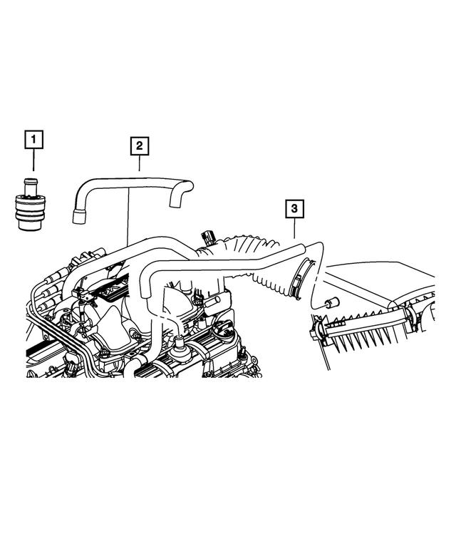 Genuine Chrysler 4721134AG Air Cleaner Hose