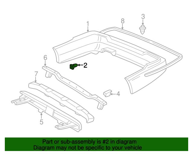 acura grommet bumper setting 90106 sw3 003 bakersfieldacuraparts rh parts bakersfieldacura com 2004 Acura TL 1998 Acura RL