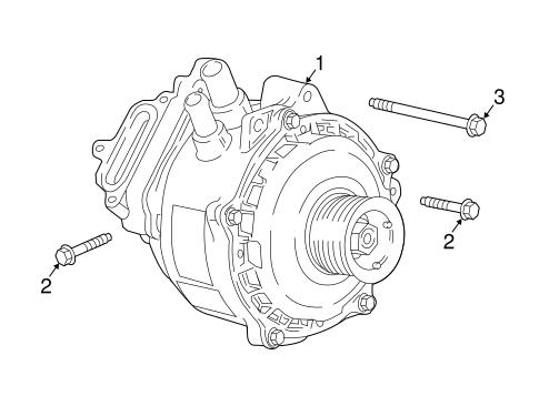 Oem 2016 Chevrolet Silverado 1500 Alternator Parts